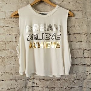 INSPIRATIONAL QUOTE SIZE XL CROP TOP